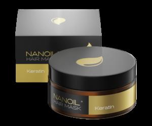 Nanoil z keratyną - Maska dla zniszczonych włosów
